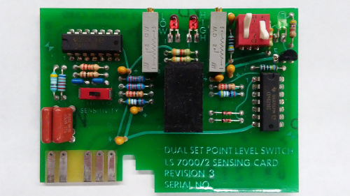 dual point level switch sensing card